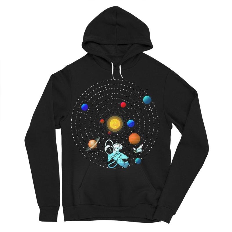 Space Travel Men's Sponge Fleece Pullover Hoody by clingcling's Artist Shop