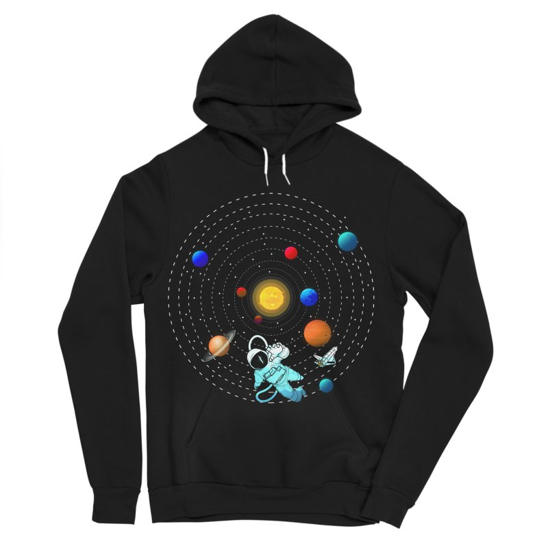 Space Travel Women's Sponge Fleece Pullover Hoody by clingcling's Artist Shop