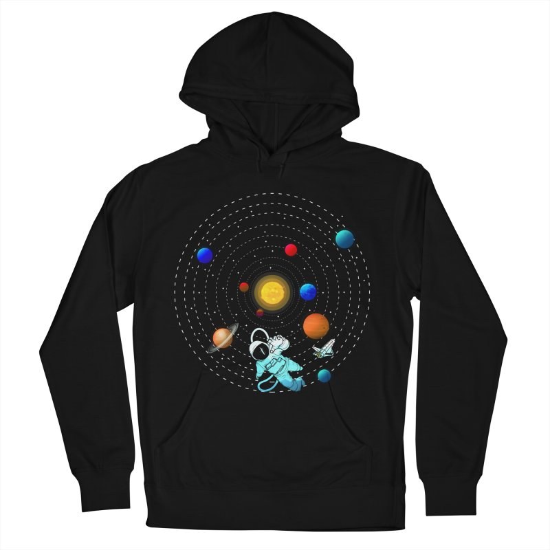 Space Travel Men's French Terry Pullover Hoody by clingcling's Artist Shop