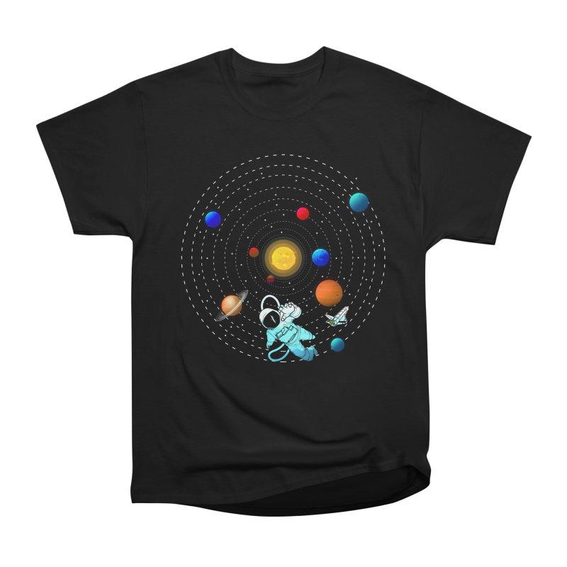 Space Travel Men's Heavyweight T-Shirt by clingcling's Artist Shop