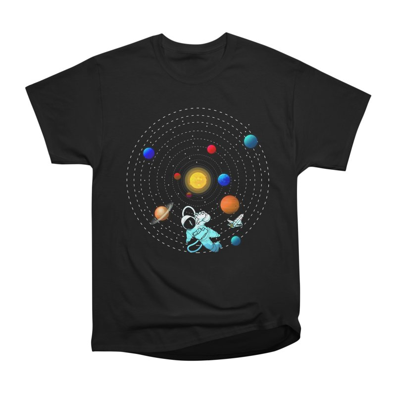 Space Travel Women's Heavyweight Unisex T-Shirt by clingcling's Artist Shop