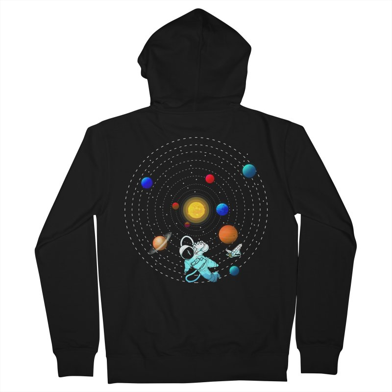 Space Travel Men's French Terry Zip-Up Hoody by clingcling's Artist Shop