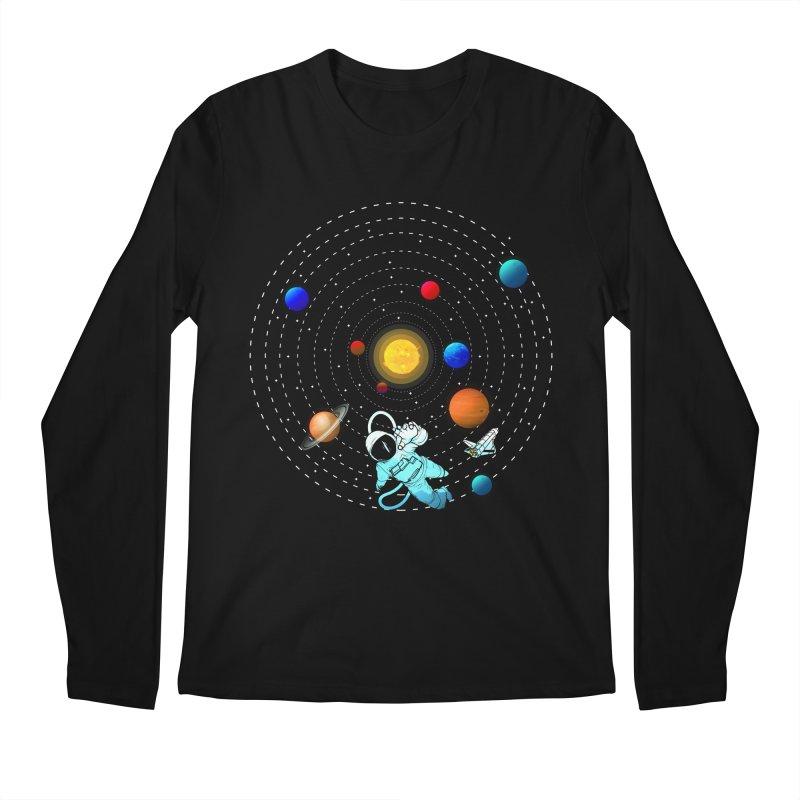 Space Travel Men's Regular Longsleeve T-Shirt by clingcling's Artist Shop
