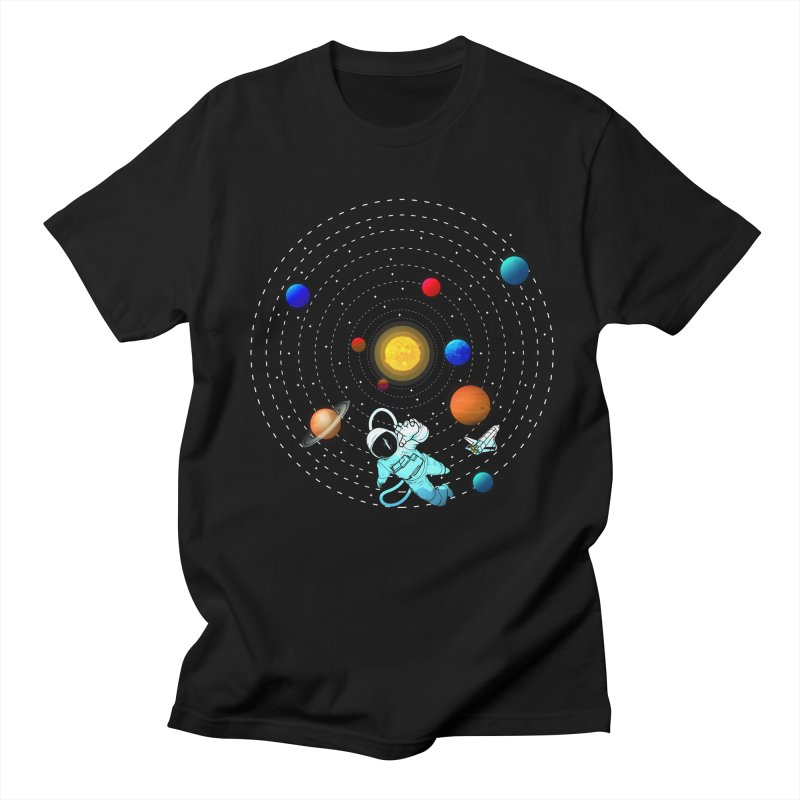 Space Travel Women's Regular Unisex T-Shirt by clingcling's Artist Shop