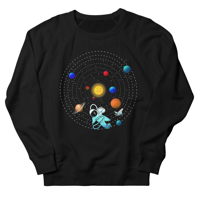 Space Travel Men's French Terry Sweatshirt by clingcling's Artist Shop