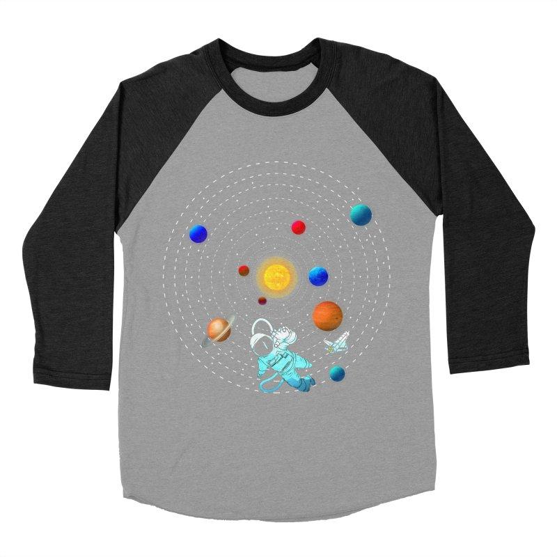 Space Travel Men's Baseball Triblend Longsleeve T-Shirt by clingcling's Artist Shop
