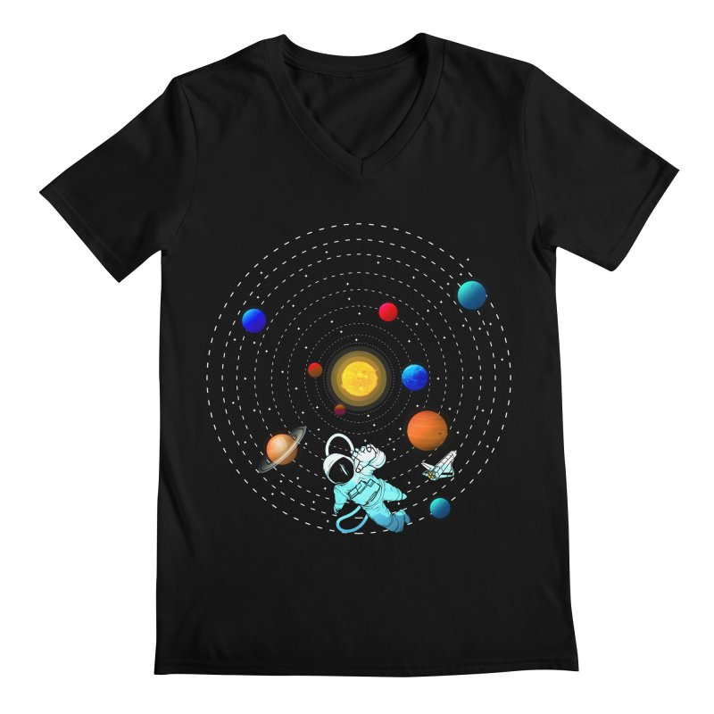 Space Travel Men's Regular V-Neck by clingcling's Artist Shop