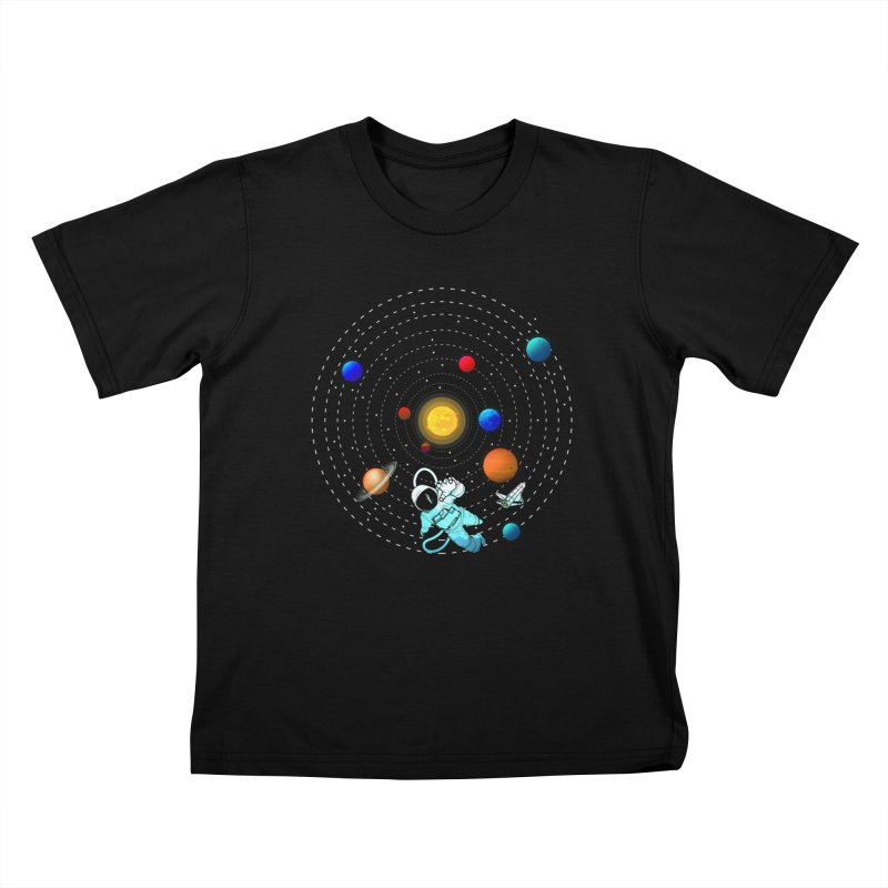 Space Travel Kids T-Shirt by clingcling's Artist Shop