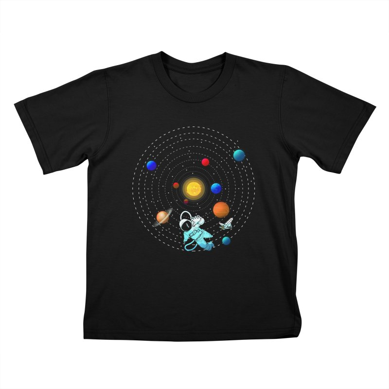 Space Travel Kids T-Shirt by clingcling's Artist Shop