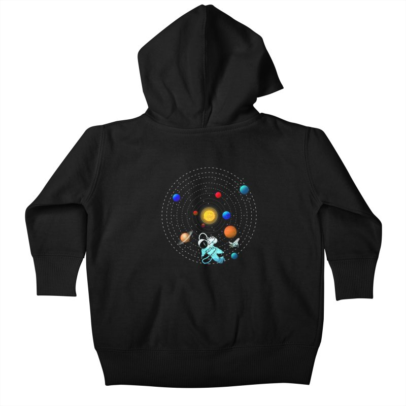 Space Travel Kids Baby Zip-Up Hoody by clingcling's Artist Shop