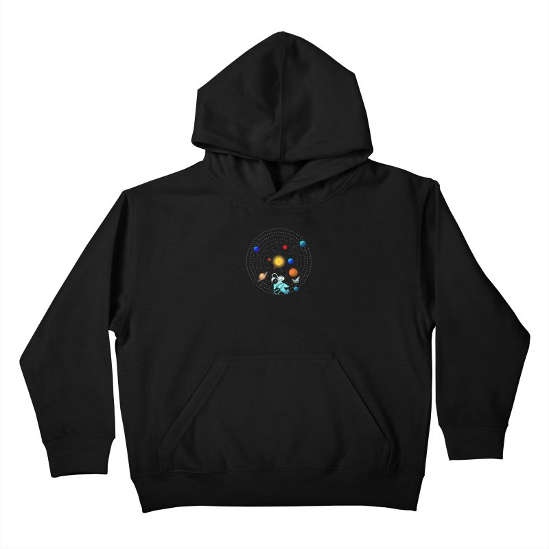 Space Travel Kids Pullover Hoody by clingcling's Artist Shop