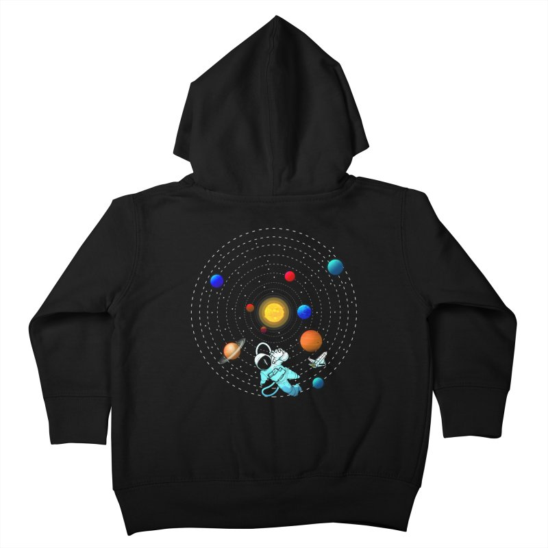 Space Travel Kids Toddler Zip-Up Hoody by clingcling's Artist Shop