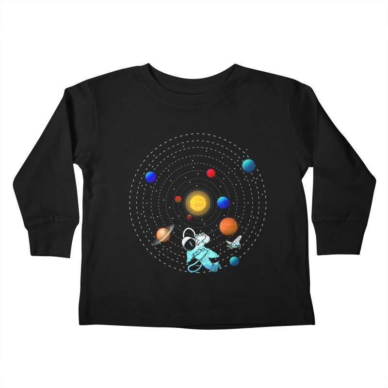 Space Travel Kids Toddler Longsleeve T-Shirt by clingcling's Artist Shop