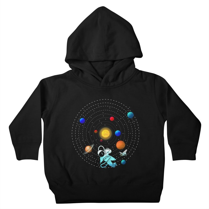 Space Travel Kids Toddler Pullover Hoody by clingcling's Artist Shop