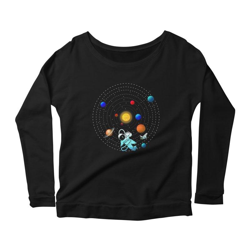 Space Travel Women's Scoop Neck Longsleeve T-Shirt by clingcling's Artist Shop