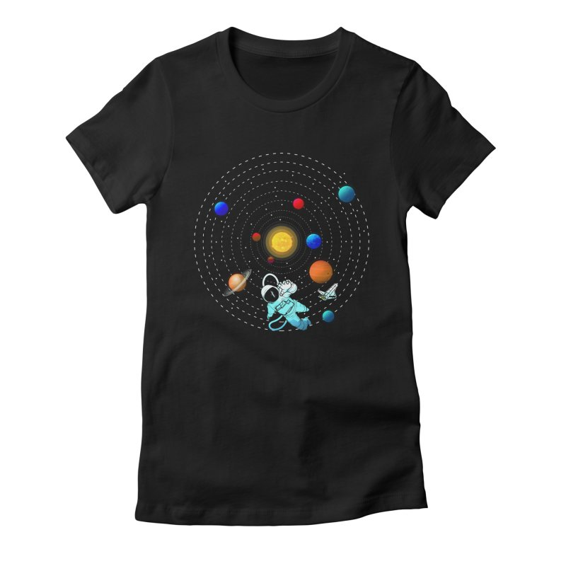 Space Travel Women's Fitted T-Shirt by clingcling's Artist Shop