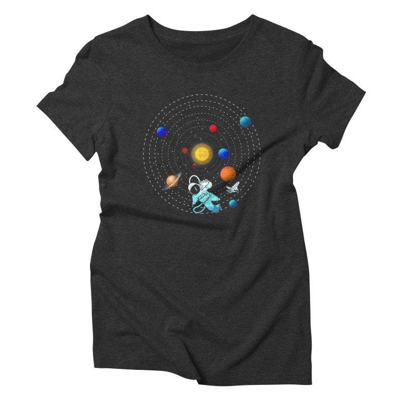 Space Travel Women's Triblend T-Shirt by clingcling's Artist Shop