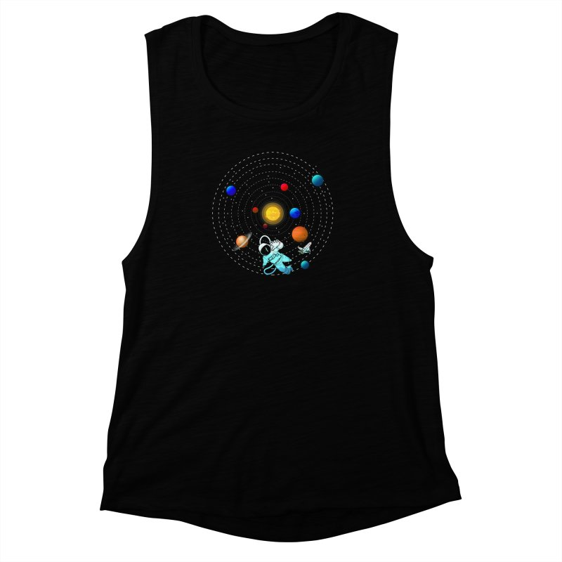 Space Travel Women's Muscle Tank by clingcling's Artist Shop