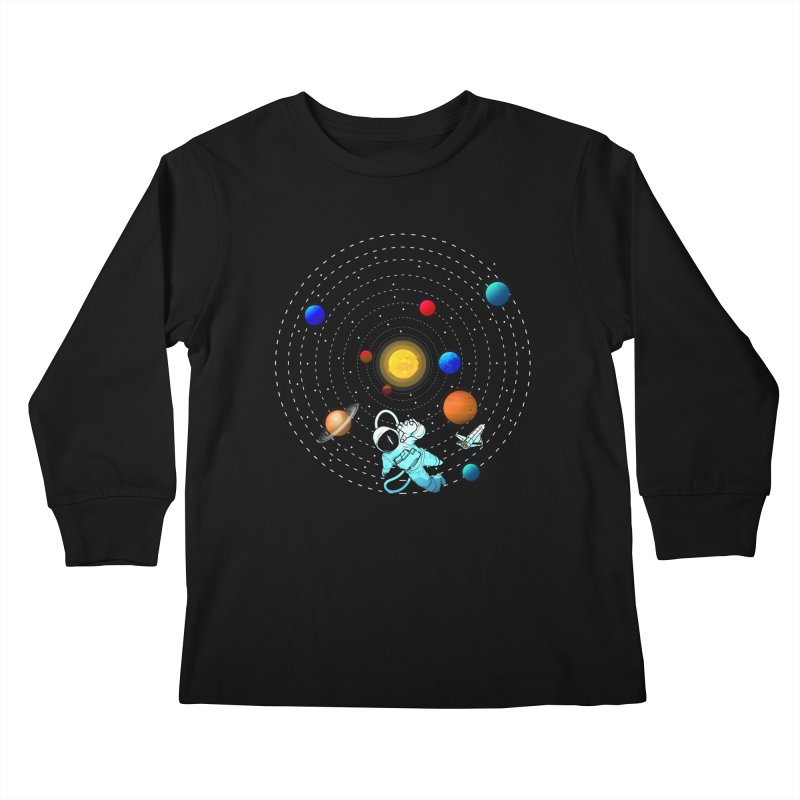 Space Travel Kids Longsleeve T-Shirt by clingcling's Artist Shop