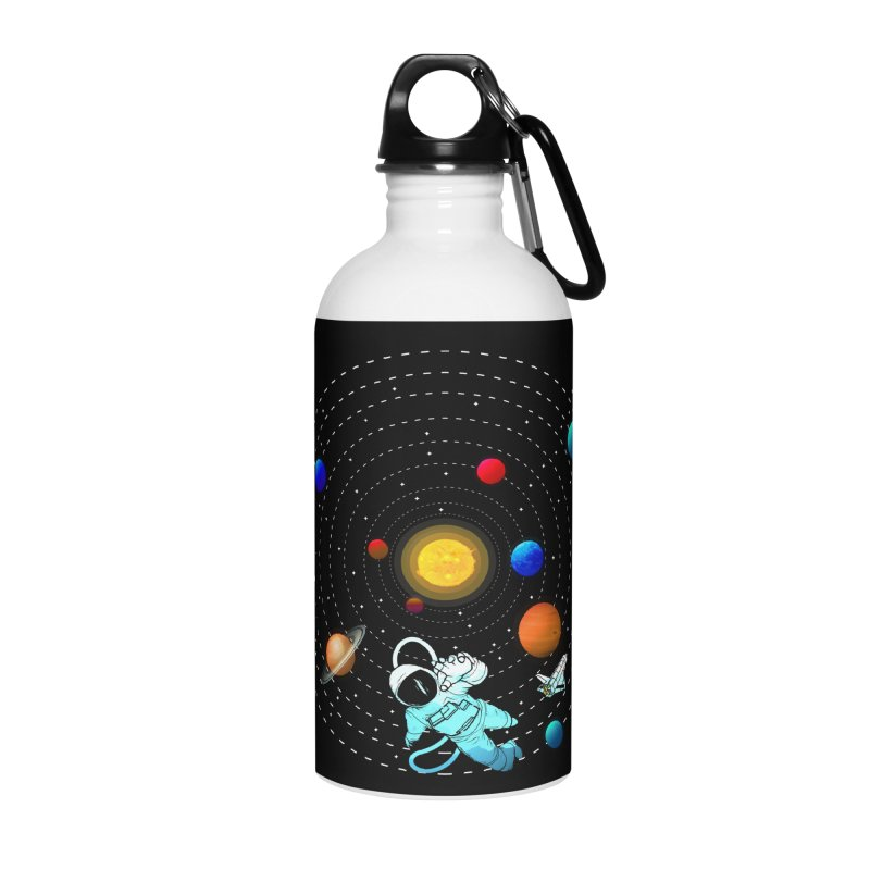 Space Travel Accessories Water Bottle by clingcling's Artist Shop