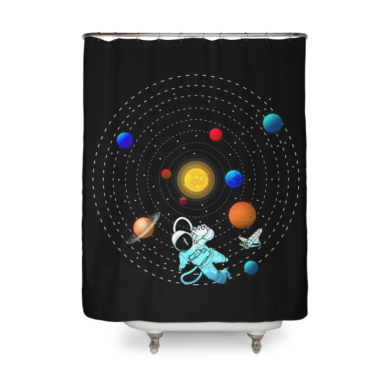 Space Travel Home Shower Curtain by clingcling's Artist Shop