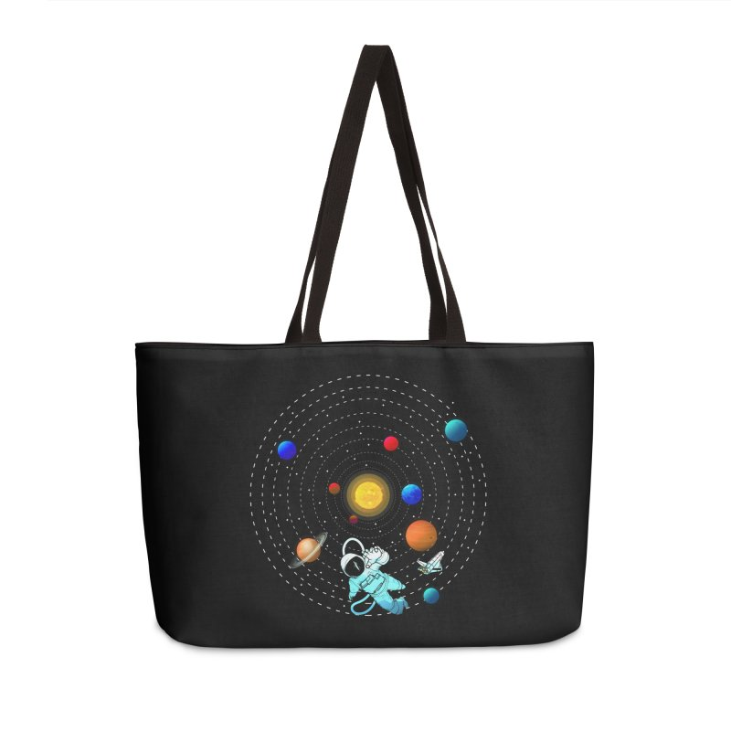 Space Travel Accessories Weekender Bag Bag by clingcling's Artist Shop