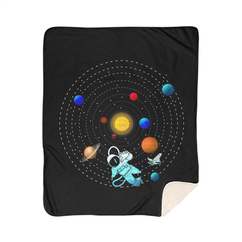 Space Travel Home Sherpa Blanket Blanket by clingcling's Artist Shop