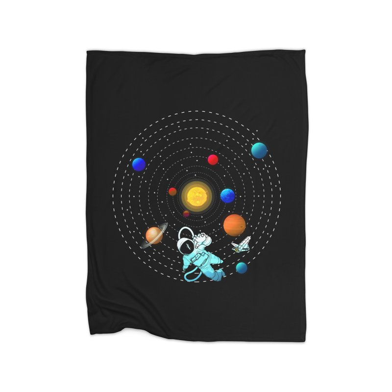 Space Travel Home Fleece Blanket Blanket by clingcling's Artist Shop