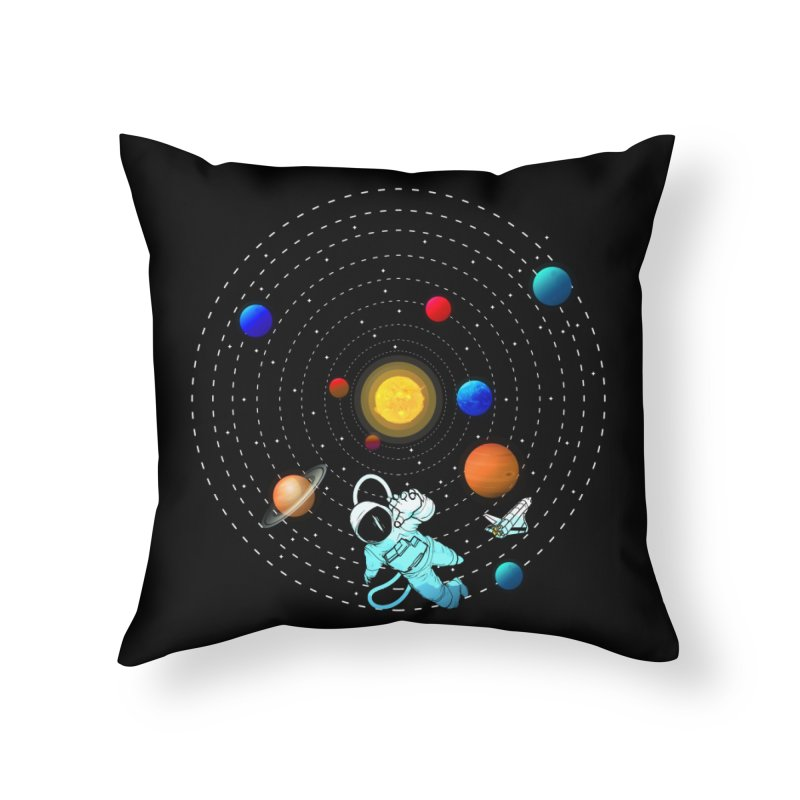 Space Travel Home Throw Pillow by clingcling's Artist Shop