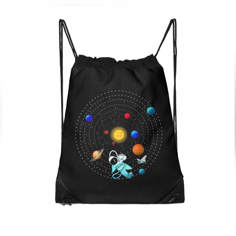 Space Travel Accessories Drawstring Bag Bag by clingcling's Artist Shop