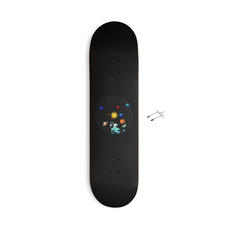 Space Travel Accessories With Hanging Hardware Skateboard by clingcling's Artist Shop