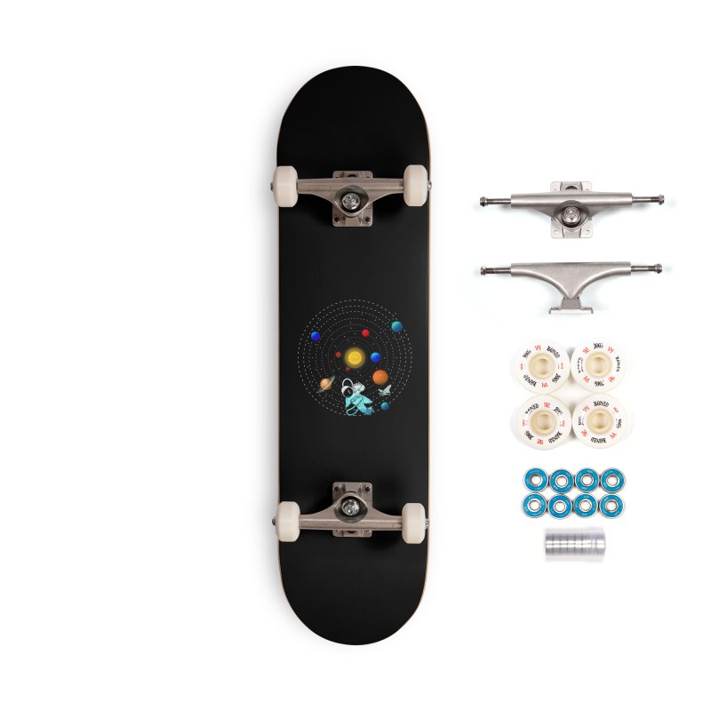 Space Travel Accessories Complete - Premium Skateboard by clingcling's Artist Shop