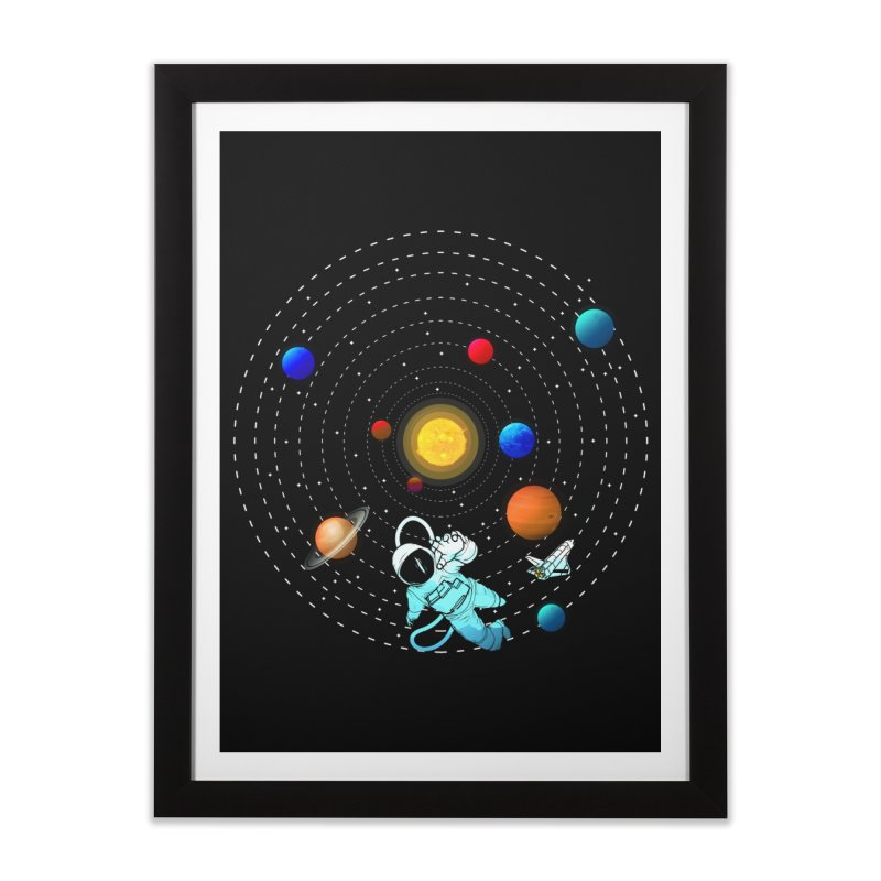 Space Travel Home Framed Fine Art Print by clingcling's Artist Shop