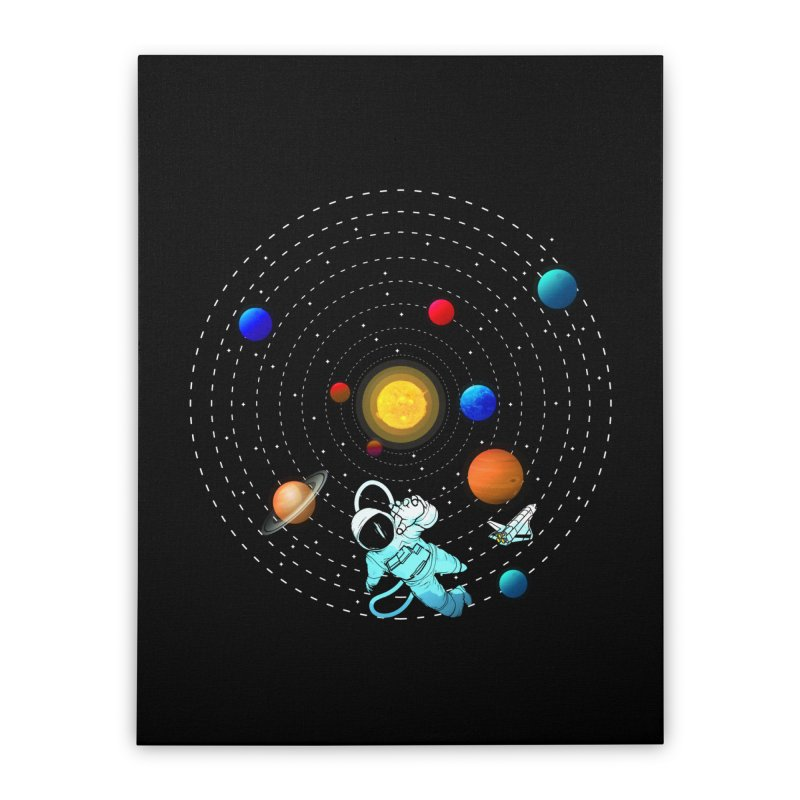 Space Travel Home Stretched Canvas by clingcling's Artist Shop