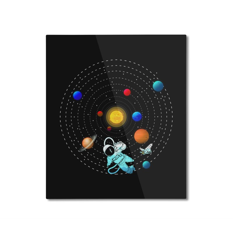 Space Travel Home Mounted Aluminum Print by clingcling's Artist Shop