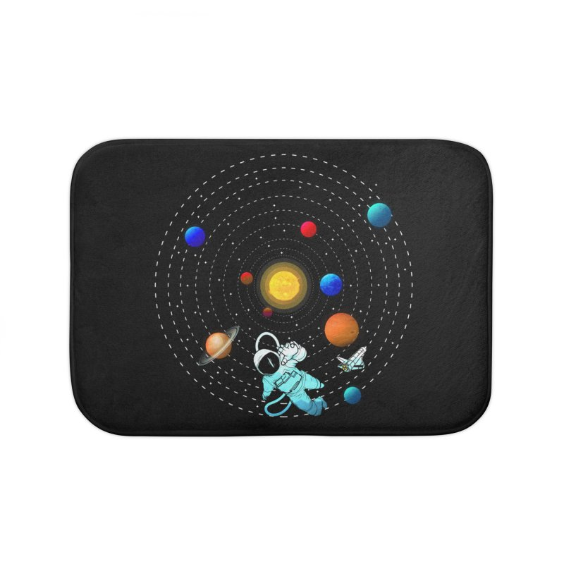 Space Travel Home Bath Mat by clingcling's Artist Shop