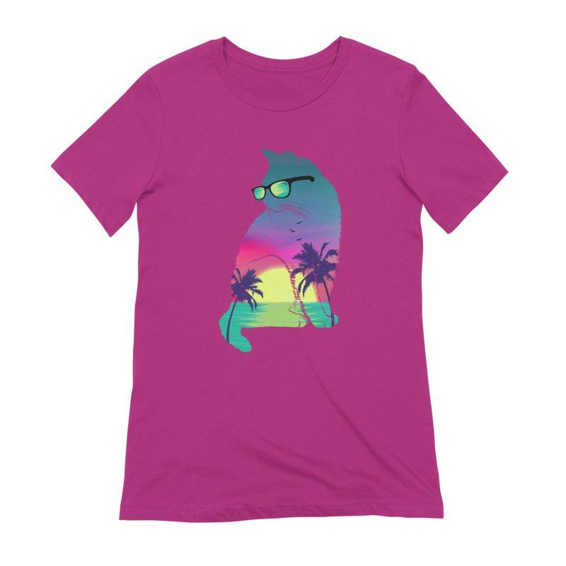 Summer Cat Women's Extra Soft T-Shirt by clingcling's Artist Shop