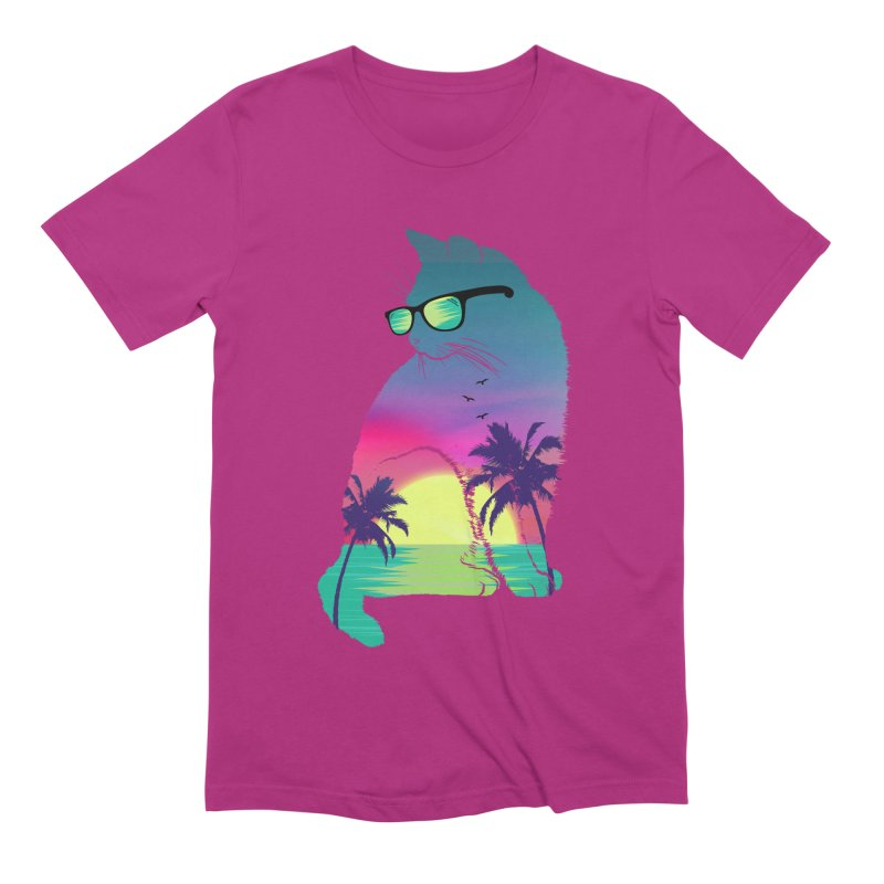 Summer Cat Men's Extra Soft T-Shirt by clingcling's Artist Shop