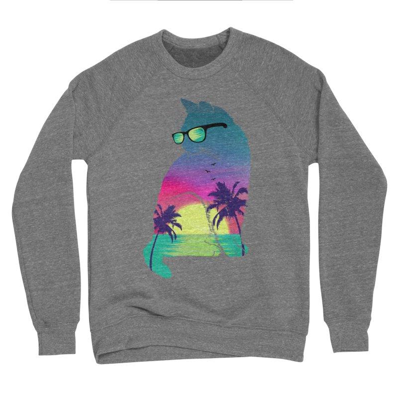 Summer Cat Men's Sponge Fleece Sweatshirt by clingcling's Artist Shop