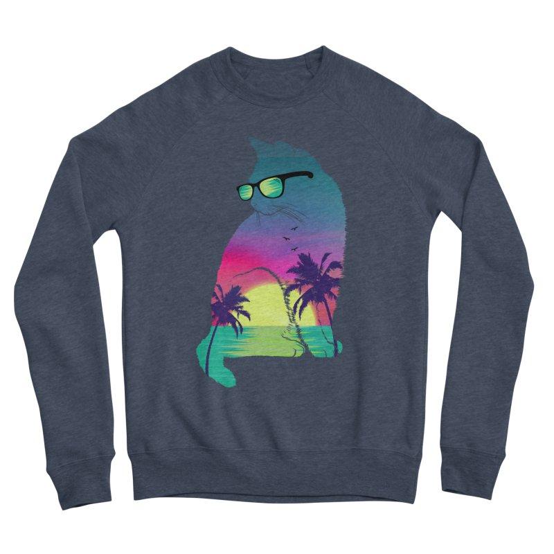 Summer Cat Women's Sponge Fleece Sweatshirt by clingcling's Artist Shop
