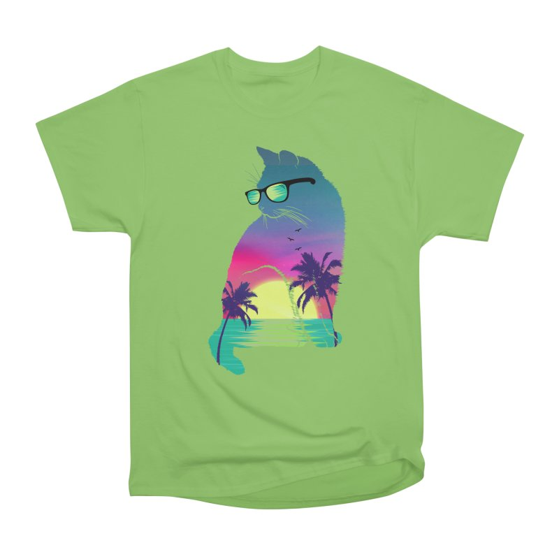 Summer Cat Women's Heavyweight Unisex T-Shirt by clingcling's Artist Shop