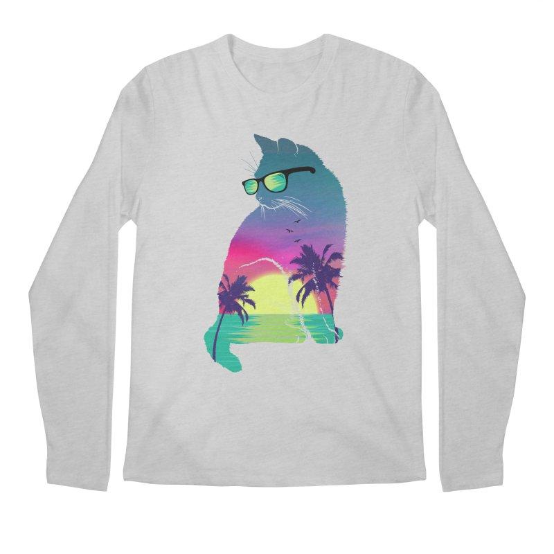 Summer Cat Men's Regular Longsleeve T-Shirt by clingcling's Artist Shop