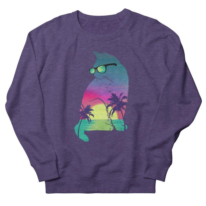 Summer Cat Men's French Terry Sweatshirt by clingcling's Artist Shop