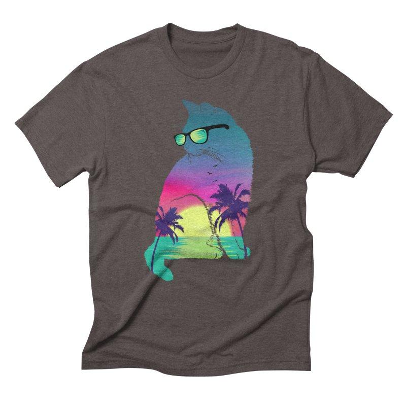 Summer Cat Men's Triblend T-Shirt by clingcling's Artist Shop