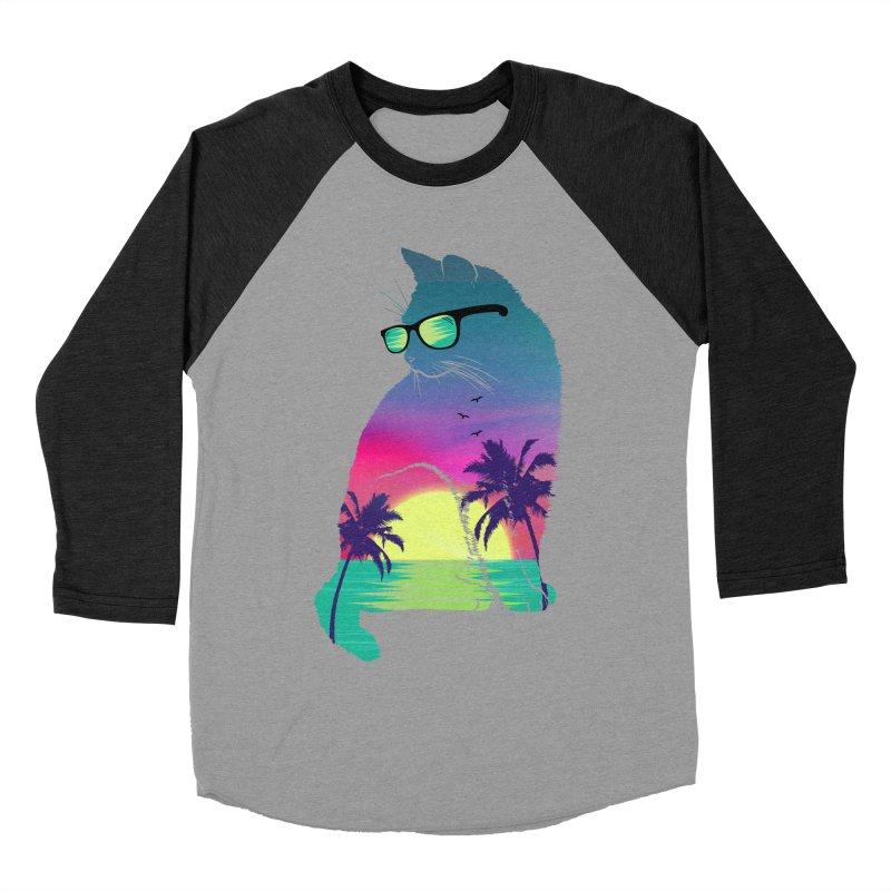 Summer Cat Women's Baseball Triblend Longsleeve T-Shirt by clingcling's Artist Shop