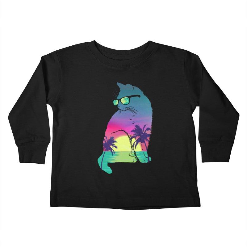 Summer Cat Kids Toddler Longsleeve T-Shirt by clingcling's Artist Shop