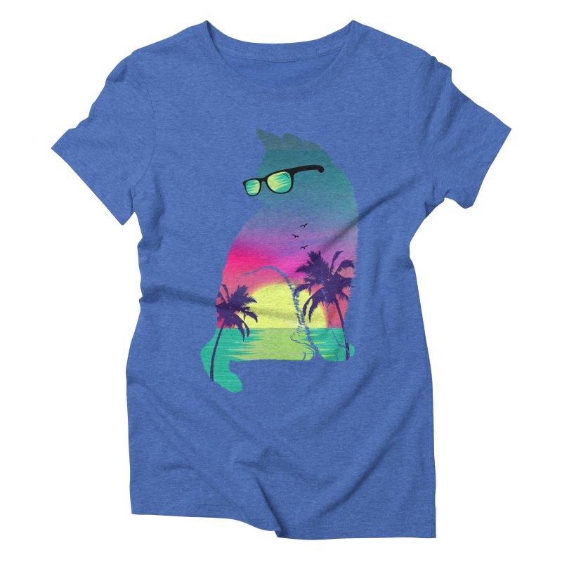 Summer Cat Women's Triblend T-Shirt by clingcling's Artist Shop
