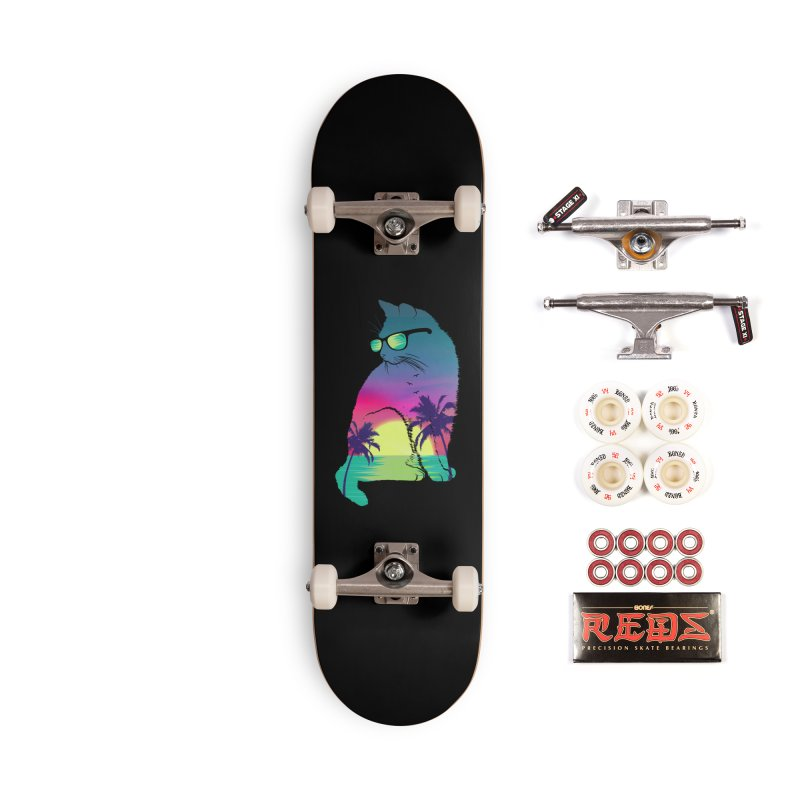 Summer Cat Accessories Complete - Pro Skateboard by clingcling's Artist Shop