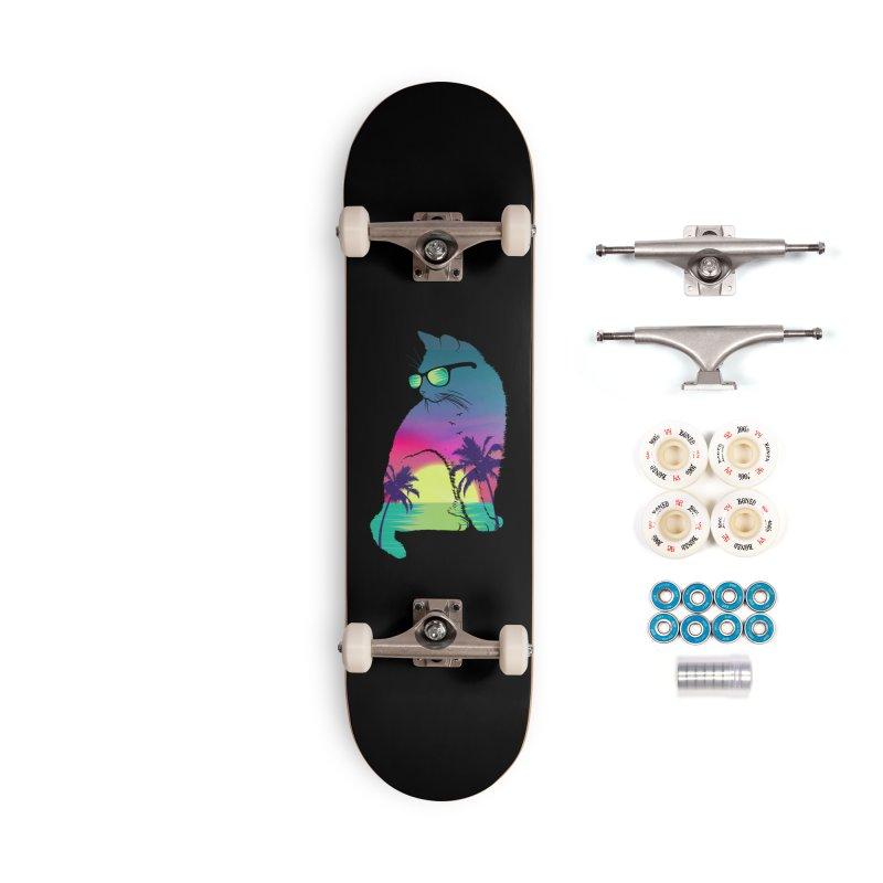 Summer Cat Accessories Complete - Premium Skateboard by clingcling's Artist Shop