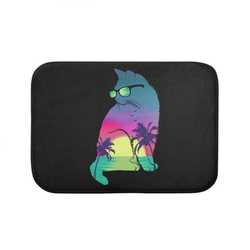 Summer Cat Home Bath Mat by clingcling's Artist Shop